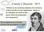 cauchy s theorem 1813