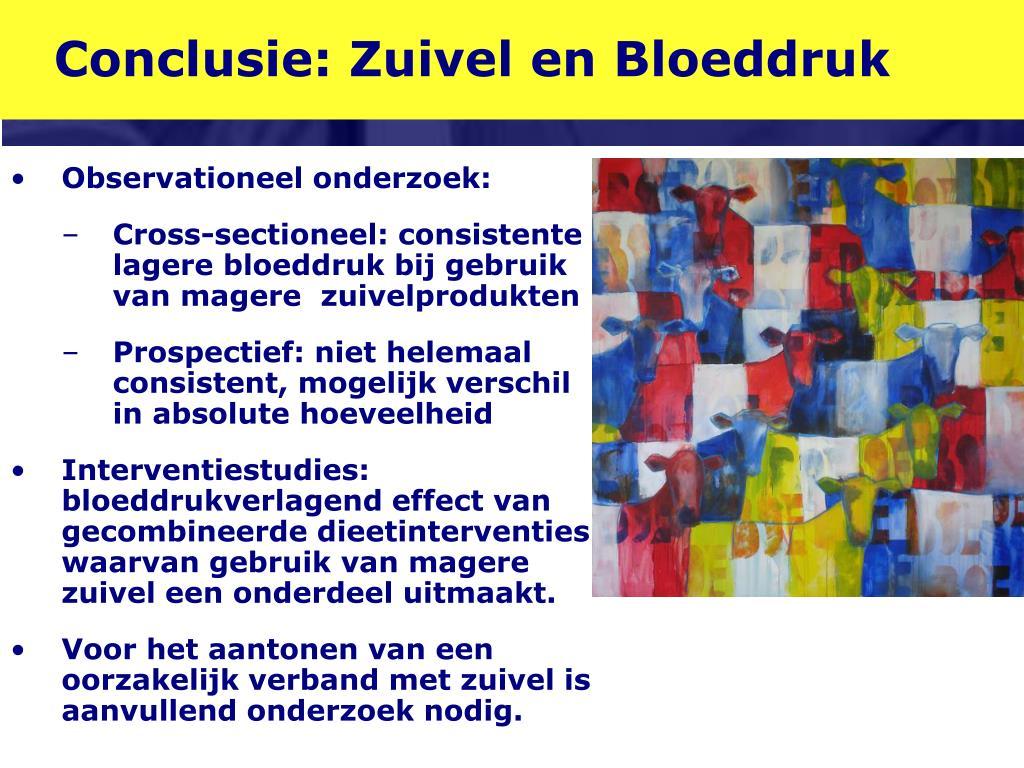Conclusie: Zuivel en Bloeddruk