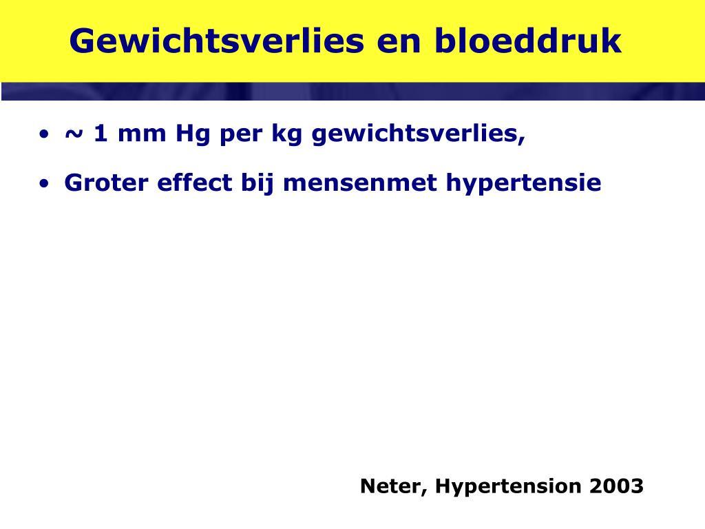 Gewichtsverlies en bloeddruk