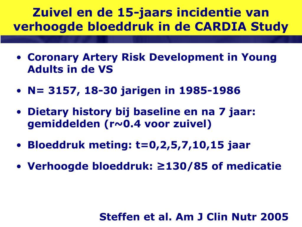 Zuivel en de 15-jaars incidentie van verhoogde bloeddruk in de CARDIA Study