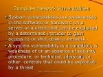 computer network vulnerabilities