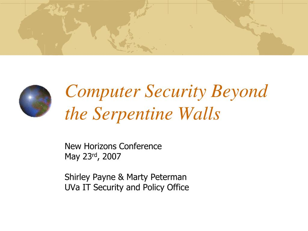 computer security beyond the serpentine walls l.
