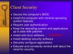 client security