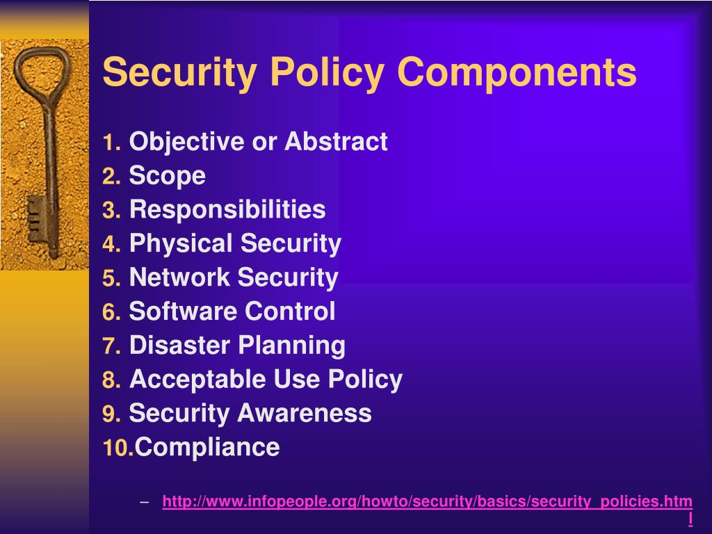 Security Policy Components