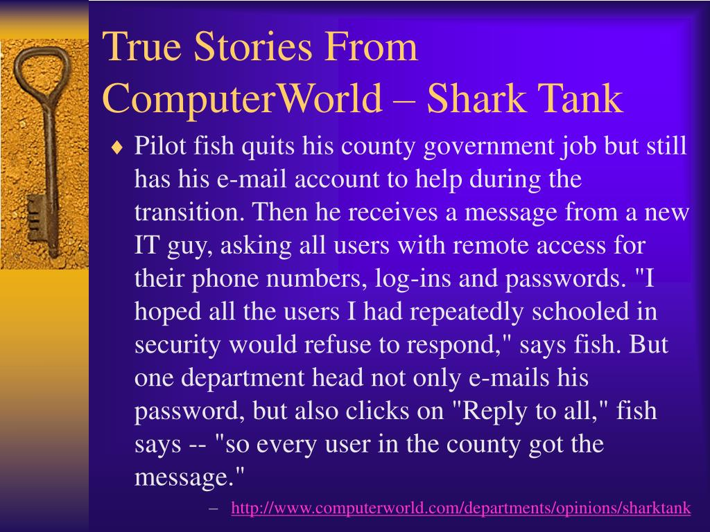 True Stories From ComputerWorld – Shark Tank