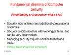 fundamental dilemma of computer security
