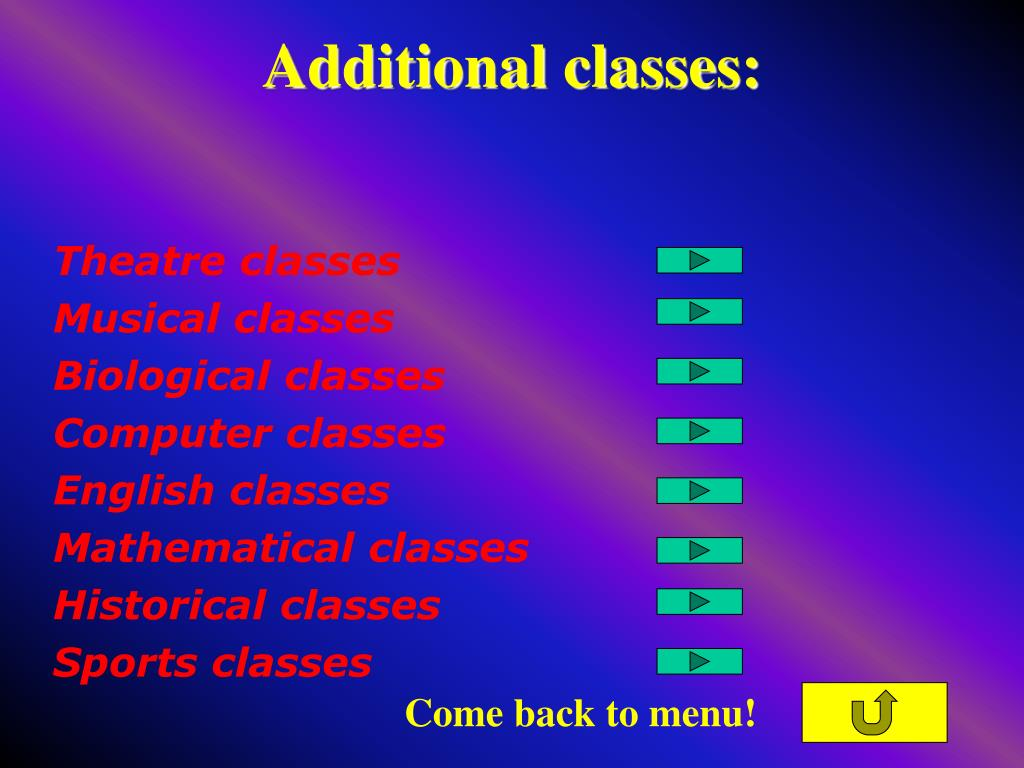 Additional classes: