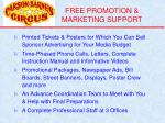 free promotion marketing support