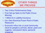other things we provide