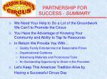 partnership for success summary