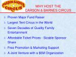 why host the carson barnes circus