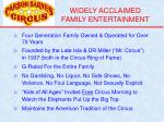 widely acclaimed family entertainment