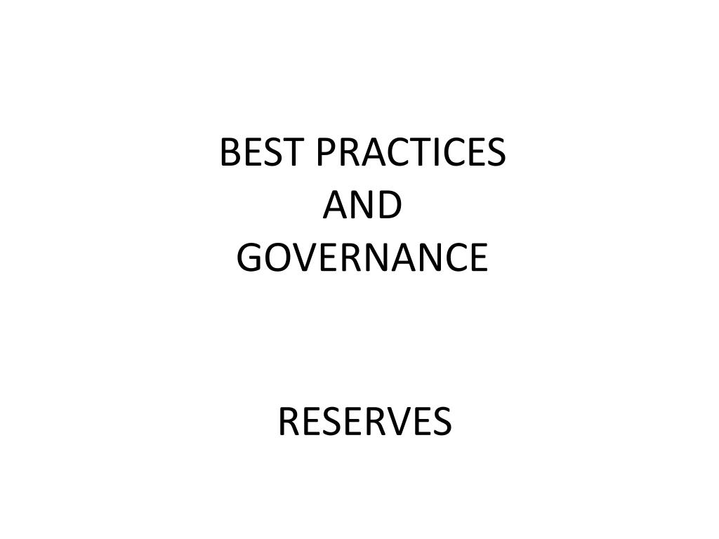 best practices and governance l.