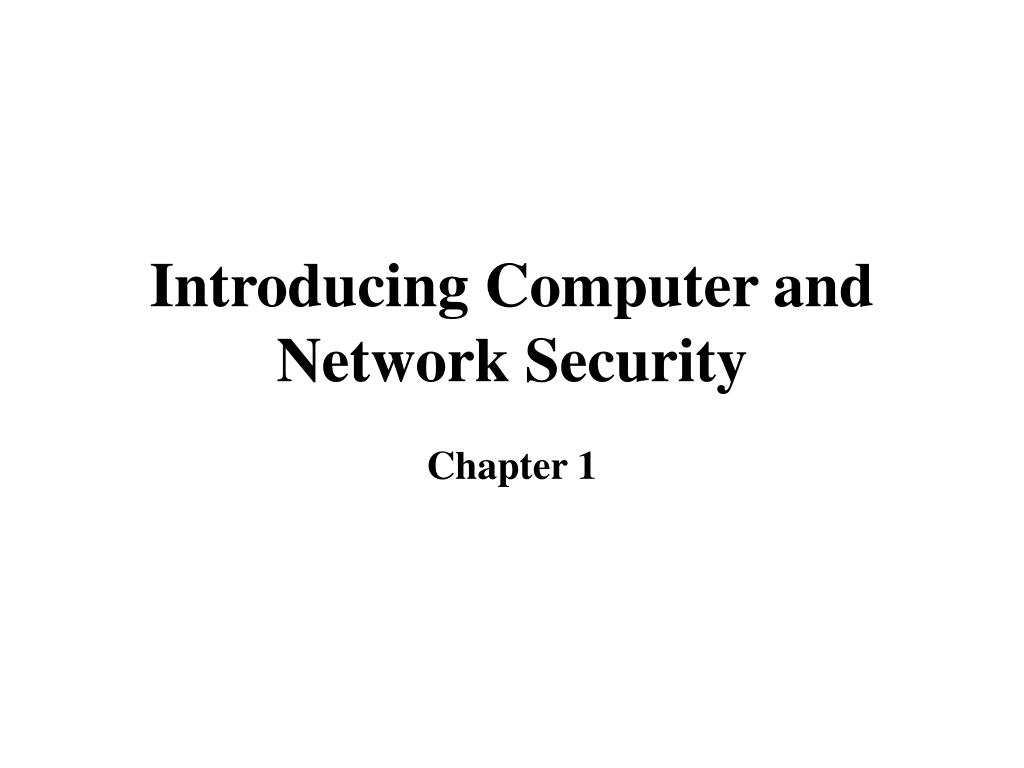 introducing computer and network security l.