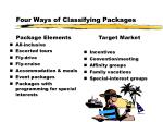 four ways of classifying packages