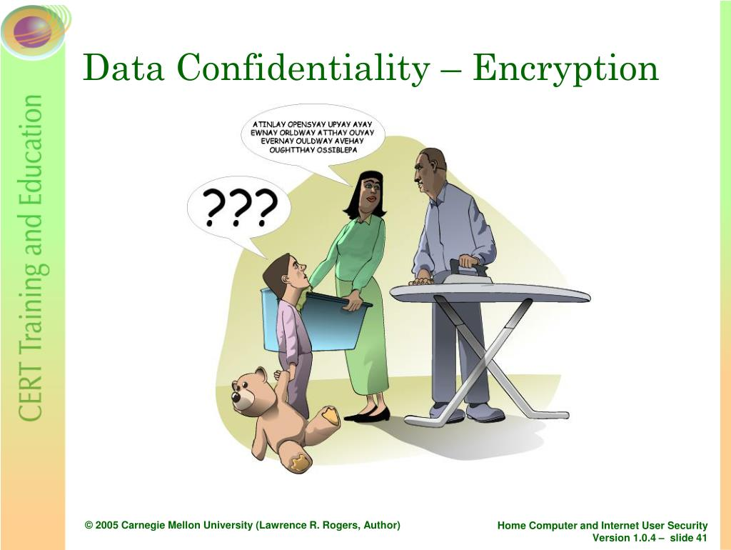 Data Confidentiality – Encryption