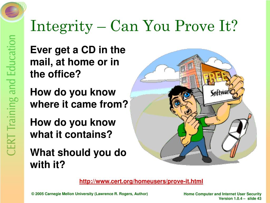 Integrity – Can You Prove It?