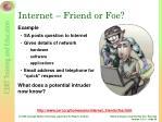 internet friend or foe