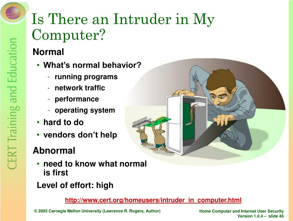 Is There an Intruder in My Computer?