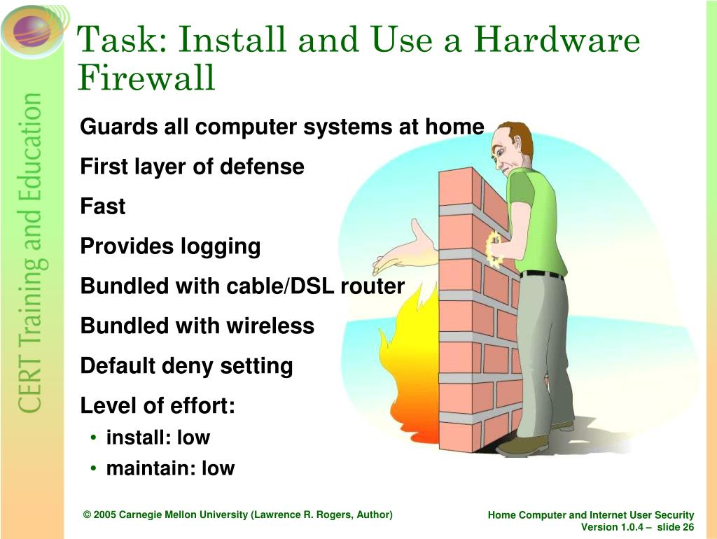 Task: Install and Use a Hardware Firewall