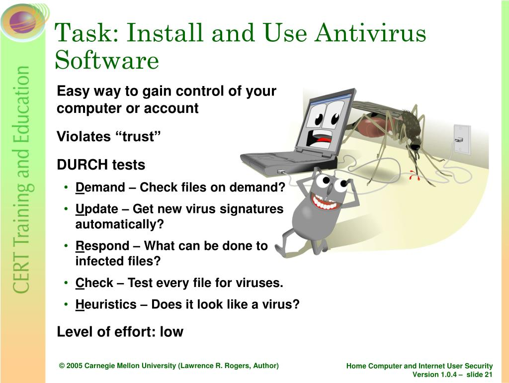 Task: Install and Use Antivirus Software