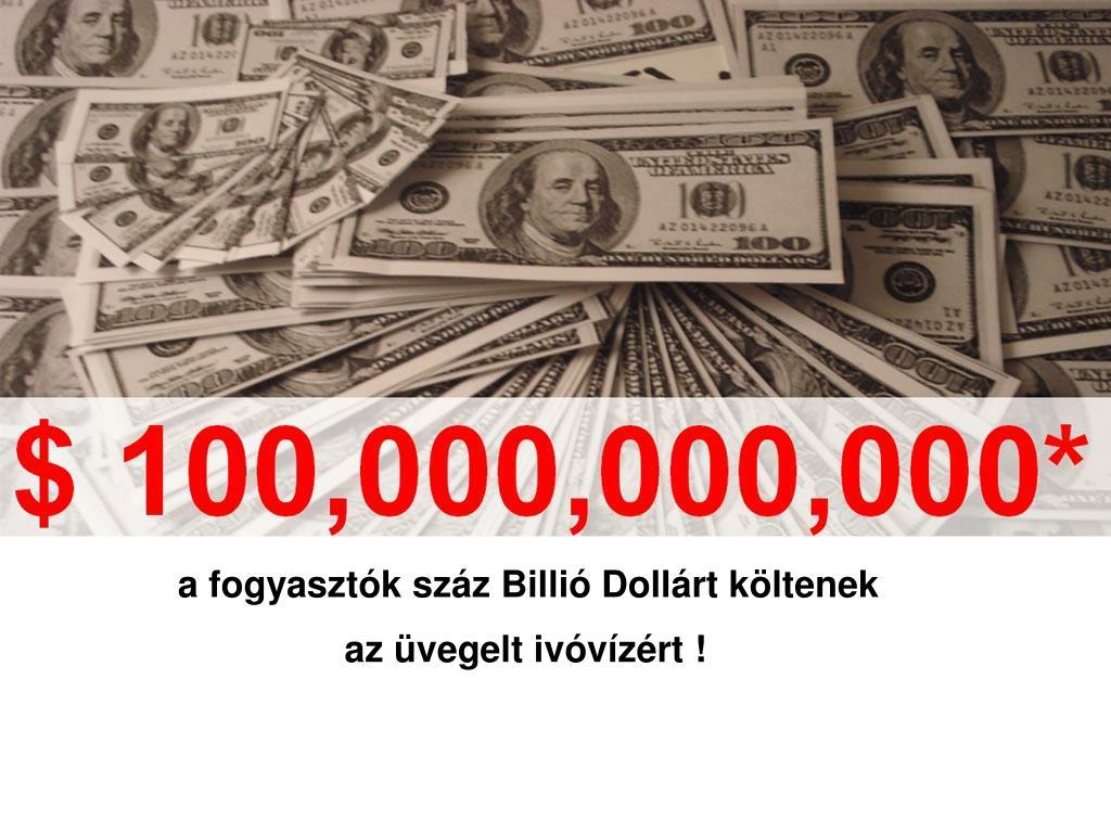 a fogyasztók száz Billió Dollárt költenek