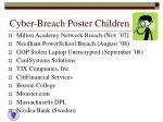 cyber breach poster children