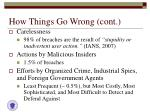 how things go wrong cont