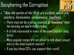 deciphering the corruption10