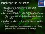 deciphering the corruption11