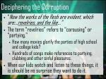 deciphering the corruption17