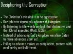 deciphering the corruption19