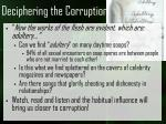deciphering the corruption7