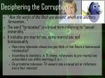deciphering the corruption8