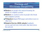 hacking and electronic trespassing