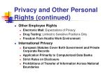 privacy and other personal rights continued17