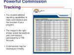 powerful commission tracking