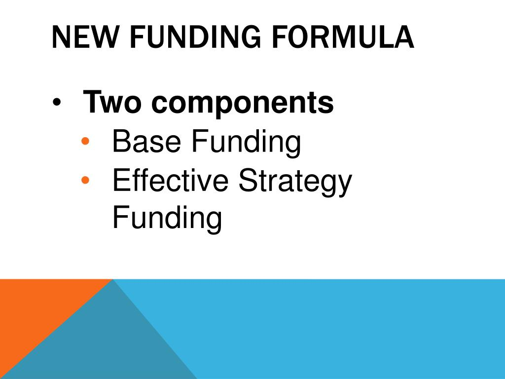 New Funding formula