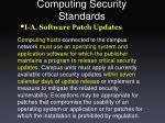 computing security standards