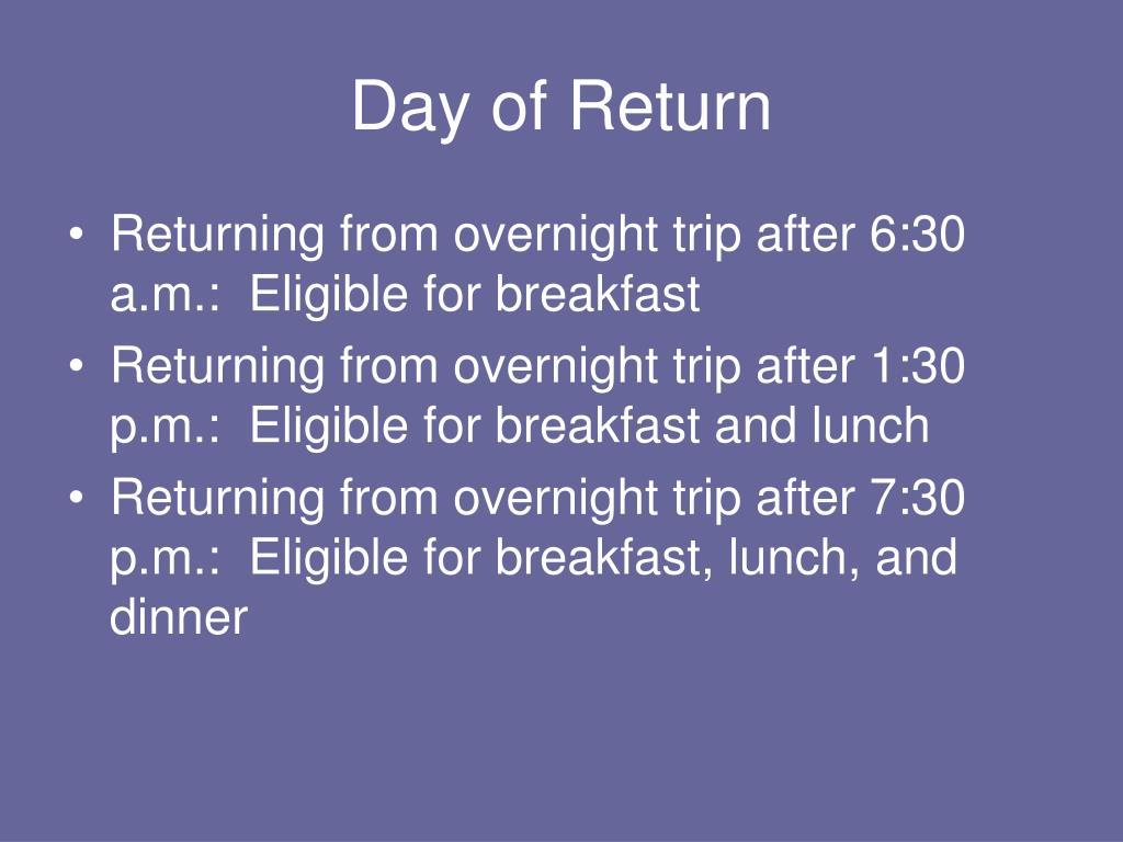 Day of Return