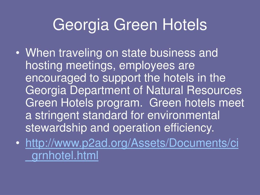 Georgia Green Hotels