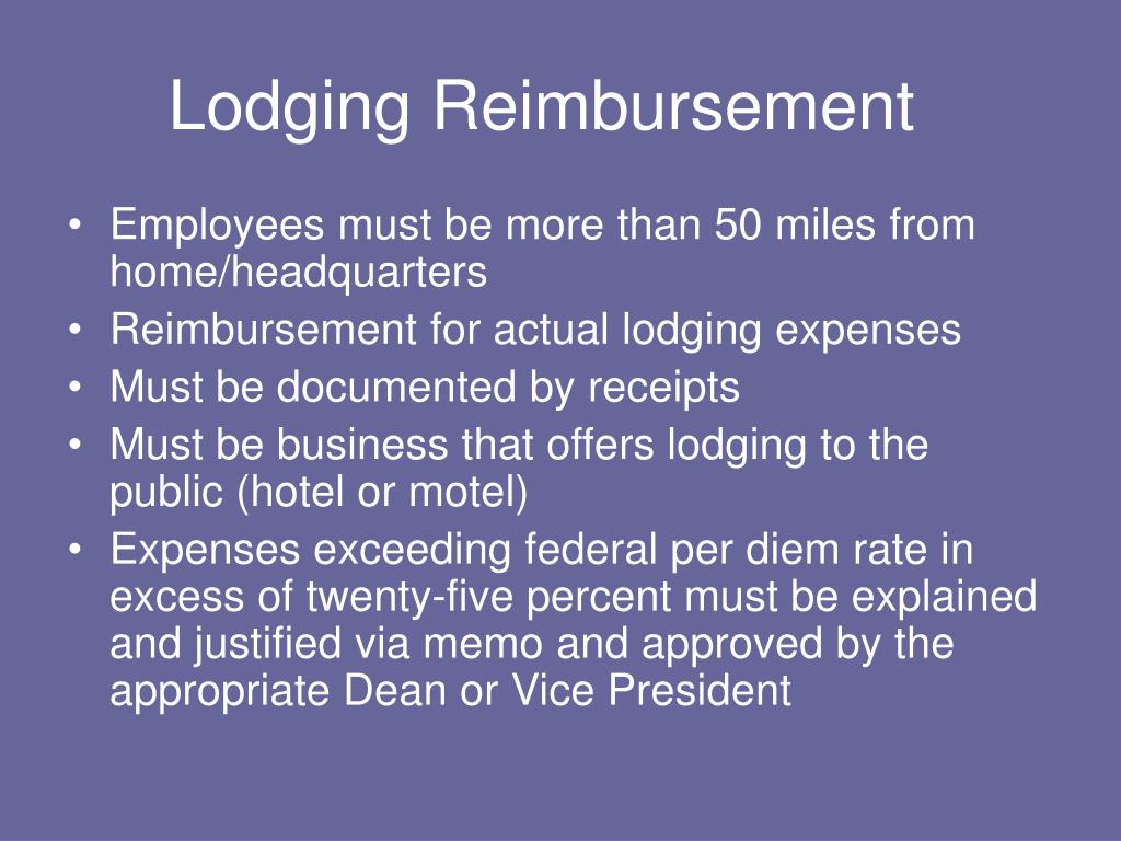Lodging Reimbursement