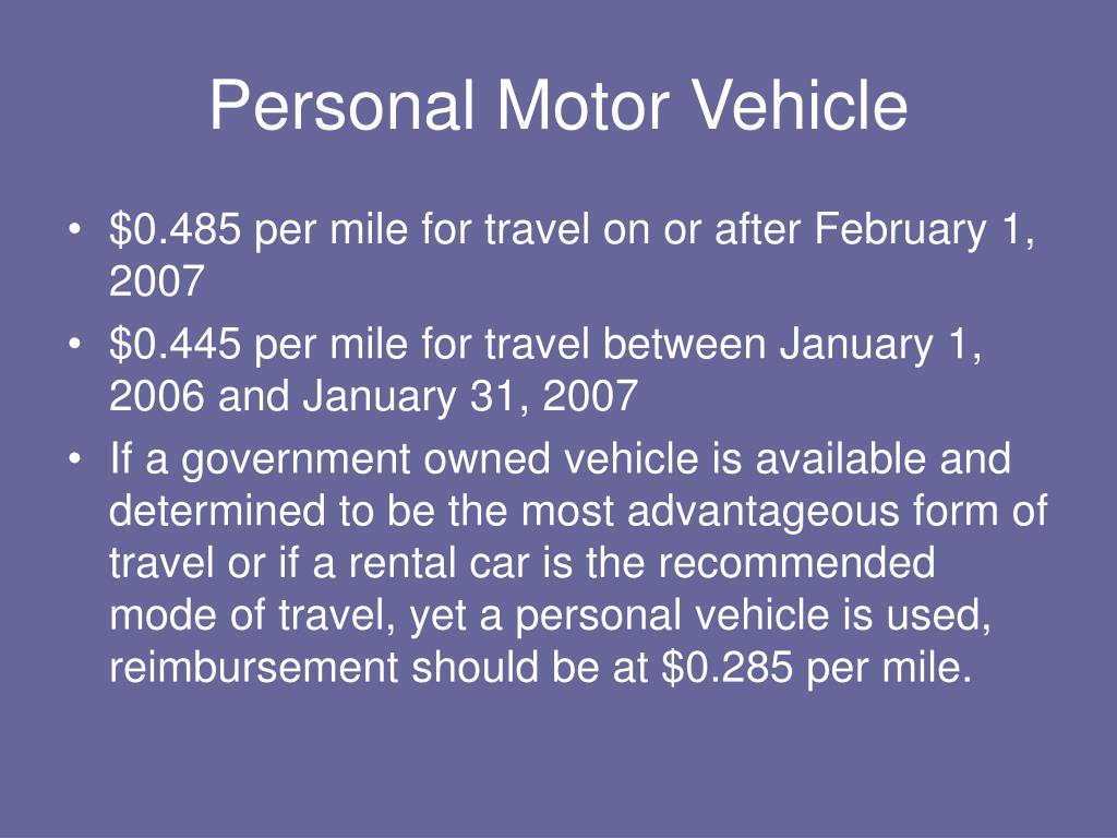 Personal Motor Vehicle