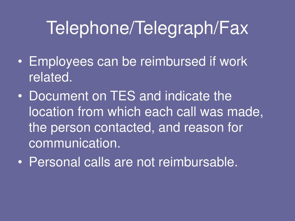 Telephone/Telegraph/Fax