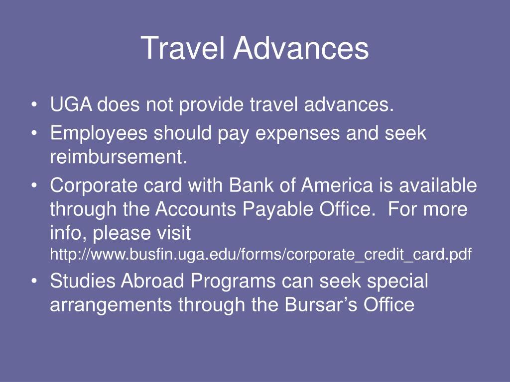 Travel Advances