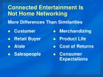 connected entertainment is not home networking