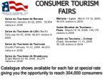 consumer tourism fairs