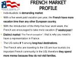 french market profile