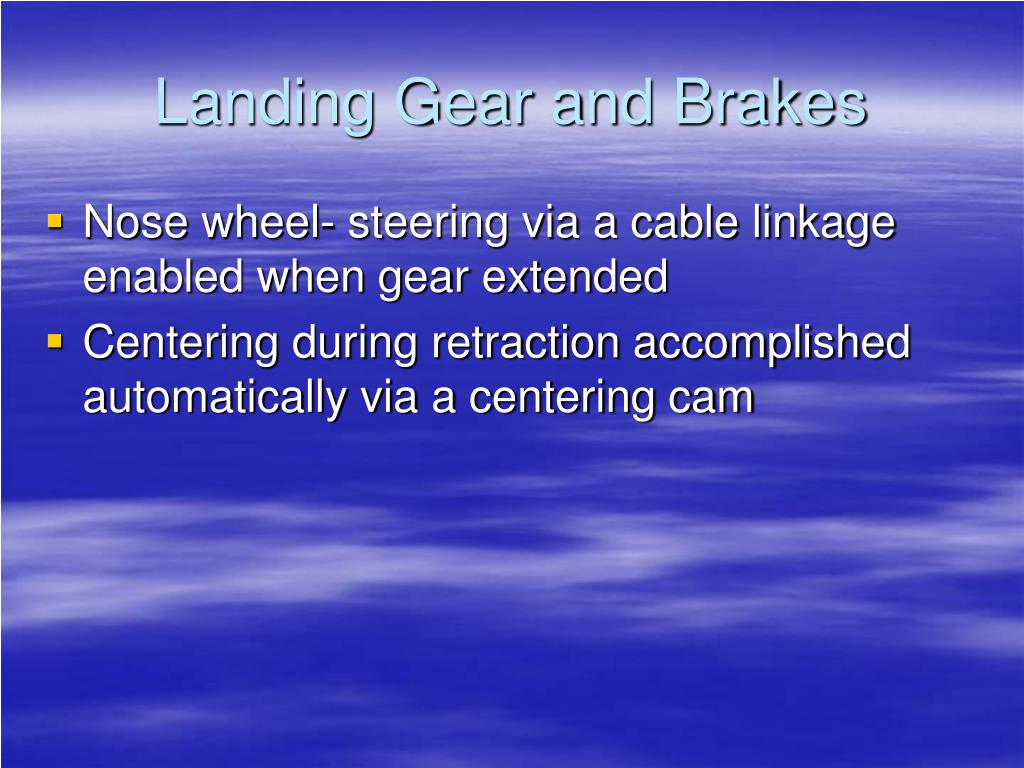 Ppt Ast 473 Cessna Citation Ii Landing Gear And Brakes