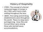 history of hospitality9